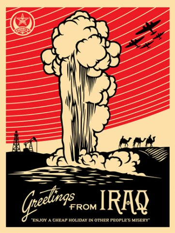 Greetings from Iraq, 2005 by Shepard Fairey