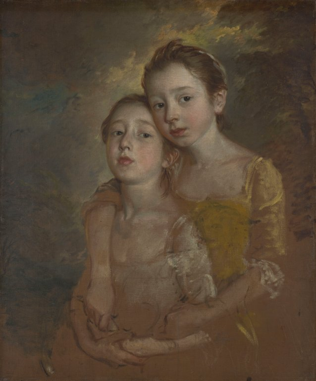 The Painter's Daughters with a Cat, c.1760-61 by Thomas Gainsborough