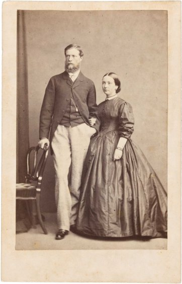 William Robertson and Martha Mary Robertson, 1863 by William Edward Kilburn