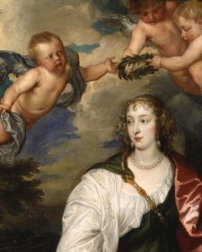Venetia, Lady Digby, circa 1633-1634 (detail) by Sir Anthony van Dyck