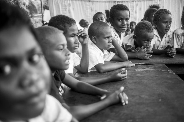 Hope School students, Koa Hill, Honiara by Sean Davey