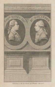 Joseph Banks and Dr Solander, 1778 an unknown artist