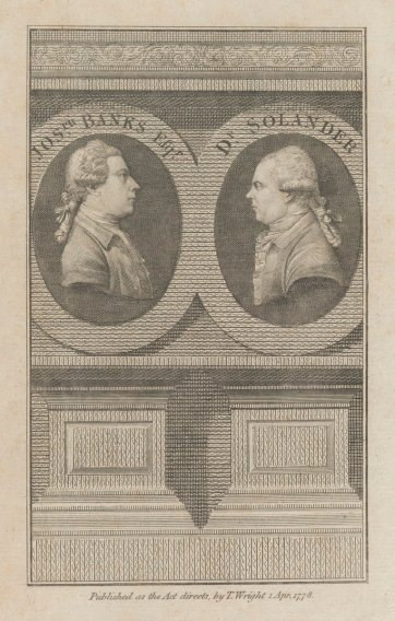 Joseph Banks and Dr Solander, 1778 by an unknown artist