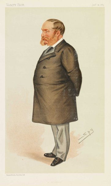 """A Squatter"" Sir Samuel Wilson (Image plate from Vanity Fair), 1885 by Sir Leslie Ward"