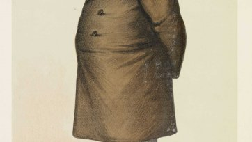 """A Squatter"" Sir Samuel Wilson (Image plate from Vanity Fair), 1885 Sir Leslie Ward"