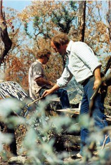 Clifton Pugh and John Olsen, Dunmoochin, 1969 by Mark Strizic