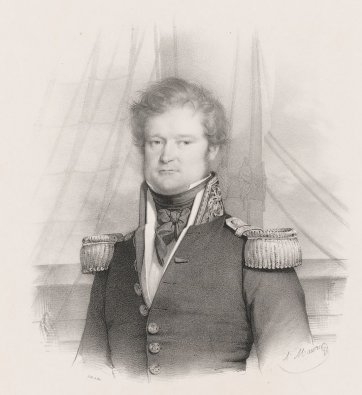 J.S.C. Dumont d'Urville.  Commandant l'Expedition de l'Astrolabe, c. 1833 by Antoine Maurin