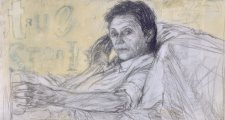 Study for portrait of Helen Garner, 2005 by Jenny Sages