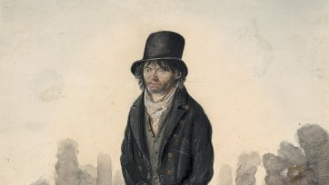 Little John of Colchester, a poor lunatic, c.1823 by John Dempsey