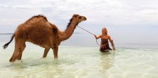 Mia Wasikowska as Robyn Davidson at Hamelin Pool, 2013 by Matt Nettheim