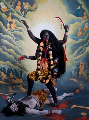 Kali (after 1908 Calcutta Art Studio print), 2014 by Pushpamala N