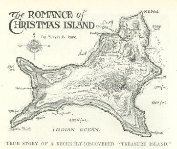 Map of Christmas Island, 1901