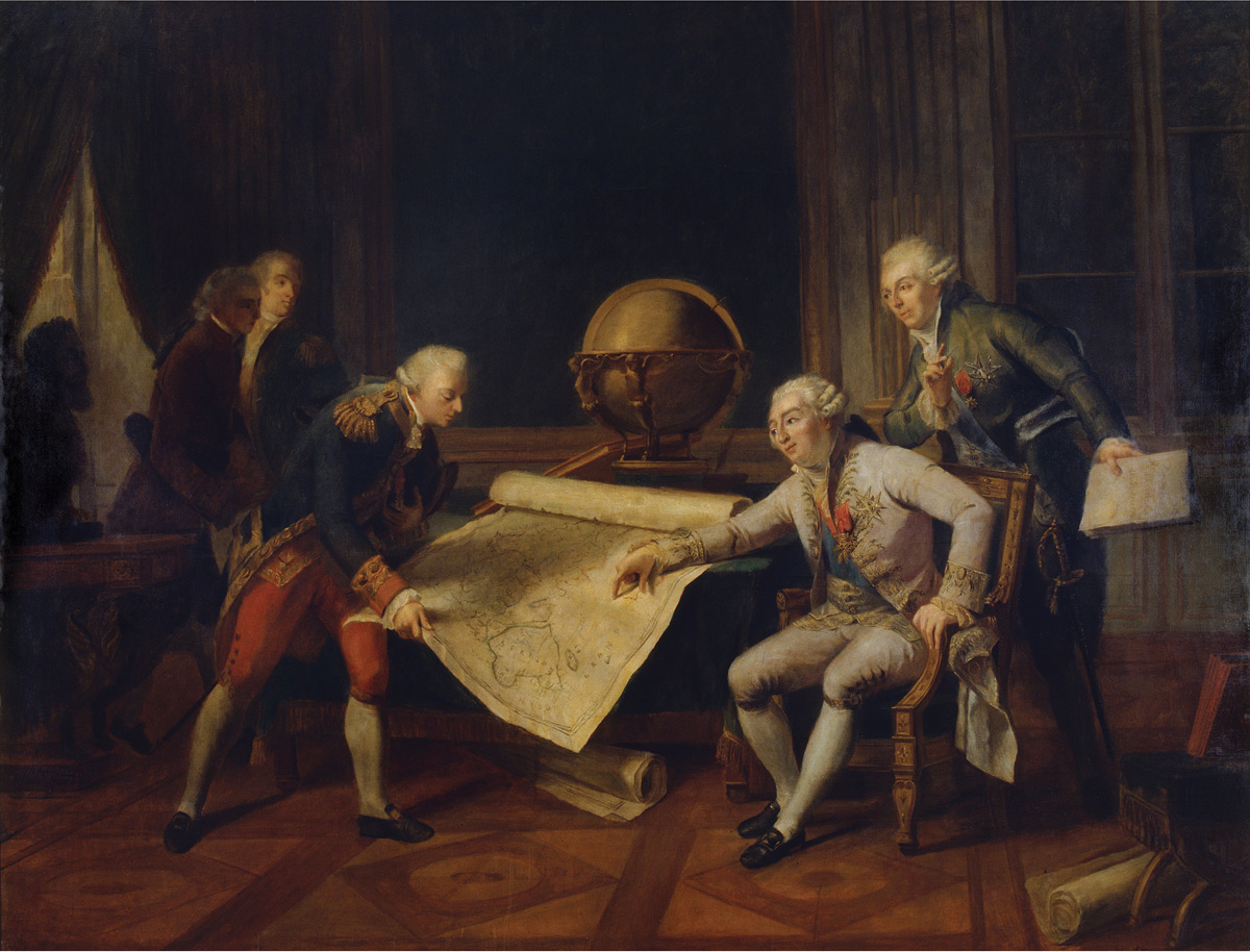 Louis XVI giving final instructions to the Comte de La Perouse, c. 1785