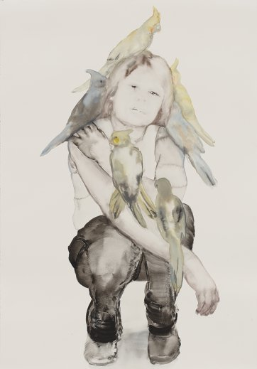 The bird lady, 2013 by Fiona McMonagle