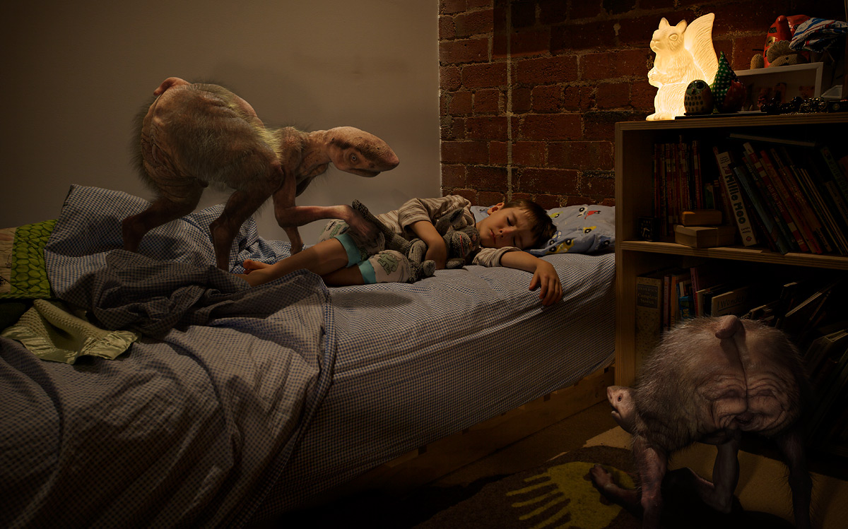 Bedroom, 10.30 pm (from 'The Fitzroy Series'), 2011 by Patricia Piccinini