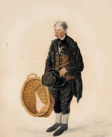 Billy Bean, Butchers' carrier, Scarborough, 1825 by John Dempsey