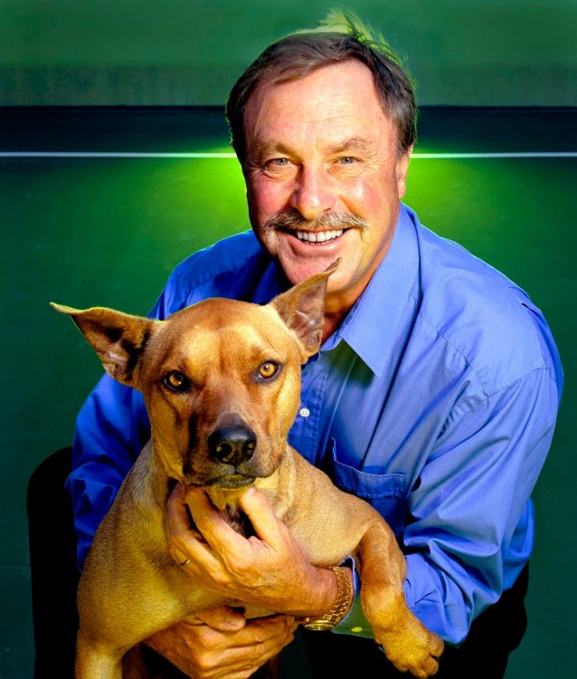 John Newcombe: outside his offices in Sydney