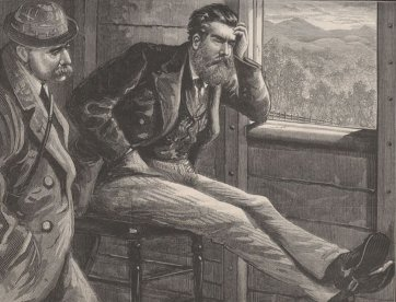 Kelly in the Guard's Van en route to Beechworth (from The Australasian Sketcher, 17 July 1880), 1880 by The Australasian Sketcher, Tom Carrington