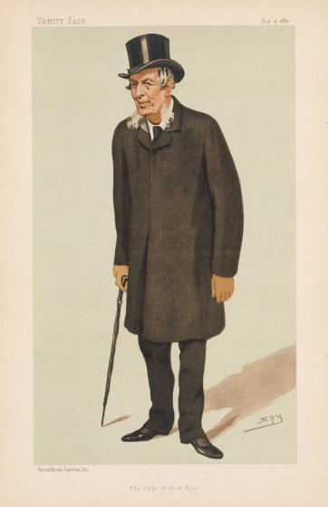 """The Cape of Good Hope""  Sir Henry Barkly  (Image plate from Vanity Fair), 1887 by Sir Leslie Ward"