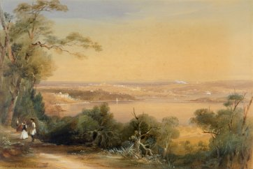 Elizabeth Bay and Sydney from Mrs Darlings Point Road, c. 1847