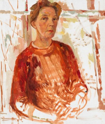 Study for self portrait, c. 1965 Jean Appleton