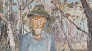 Portrait of Manning Clark at Wapengo NSW, 1972 by Arthur Boyd