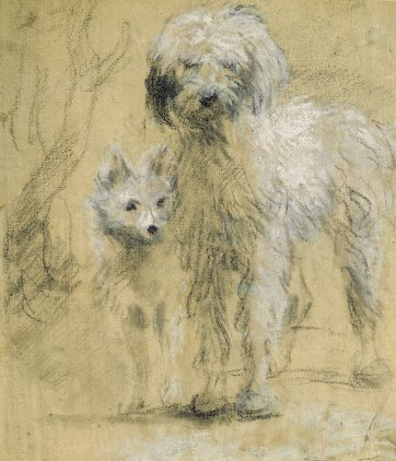 Tristram and Fox, c.1760s by Thomas Gainsborough