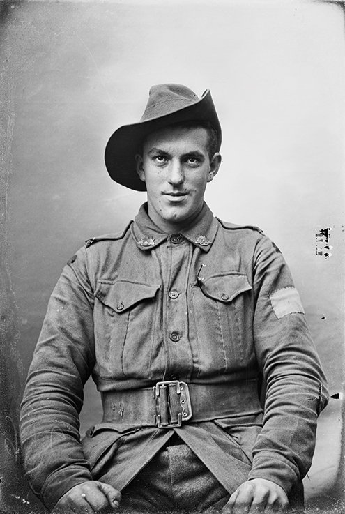 Unknown Australian soldier in Vignacourt, France c. 1916-18 by Louis Thuillier