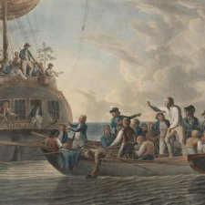 Mutiny on the Bounty (The Mutineers turning Lieutenant Bligh and part of the officers and crew adrift from His Majesty's Ship the Bounty), 1790 by Robert Dodd
