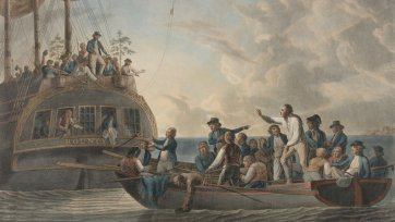Mutiny on the Bounty (The Mutineers turning Lieutenant Bligh and part of the officers and crew adrift from His Majesty's Ship the Bounty), 1790 Robert Dodd