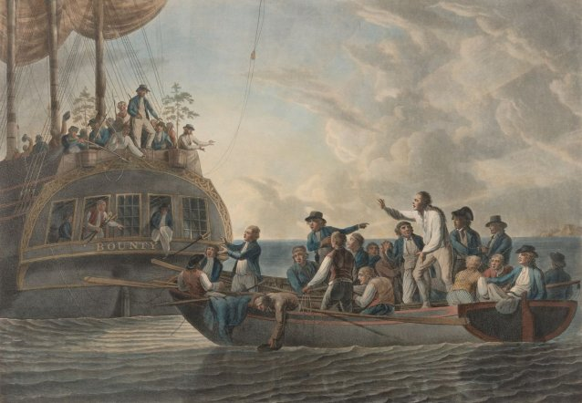 Mutiny on the Bounty (The Mutineers turning Lieutenant Bligh and part of the officers and crew adrift from His Majesty's Ship the Bounty)
