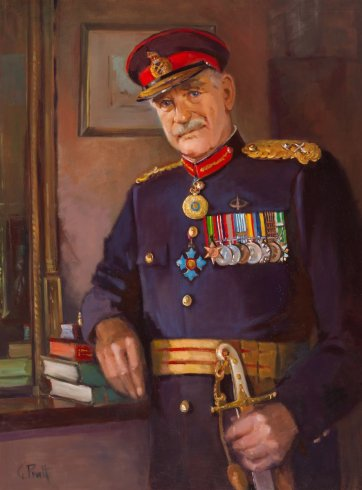 Major General Alan Stretton, 1987 by Gwendolene Pratt