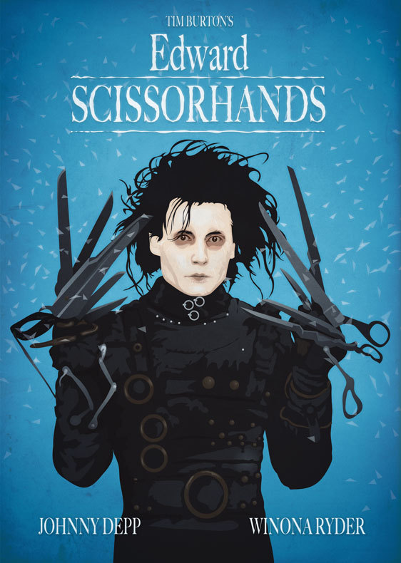 an analysis of edward scissor hands by tim burton