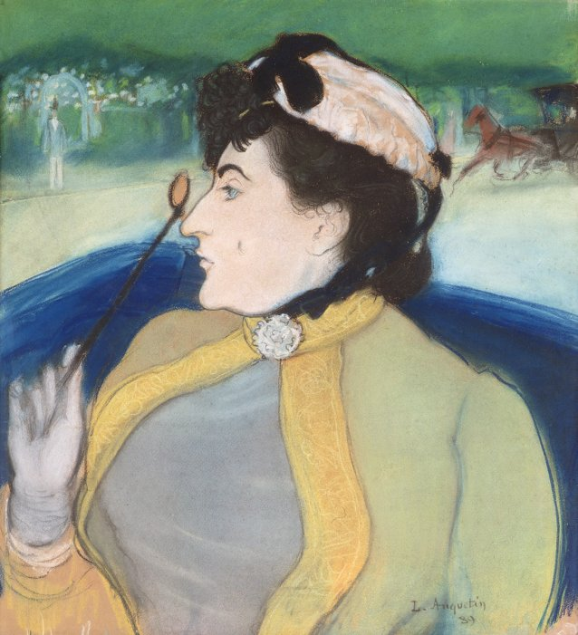 Woman in a barouche, c. 1889 by Louis Anquetin