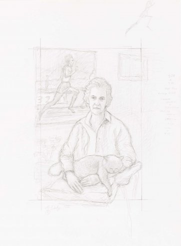 Preparatory study for Betty Cuthbert, 2002 Andrew Daly