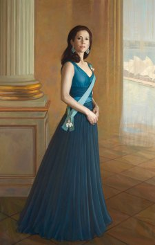 Portrait of HRH Crown Princess Mary of Denmark, 2005 by Jiawei Shen