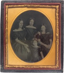 Dowling family portrait [Selina, Jane, Leura and Elizabeth (Bessie) Dowling, c. 1862 an unknown artist