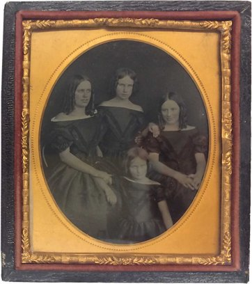 Dowling family portrait [Selina, Jane, Leura and Elizabeth (Bessie) Dowling, c.1862 an unknown artist