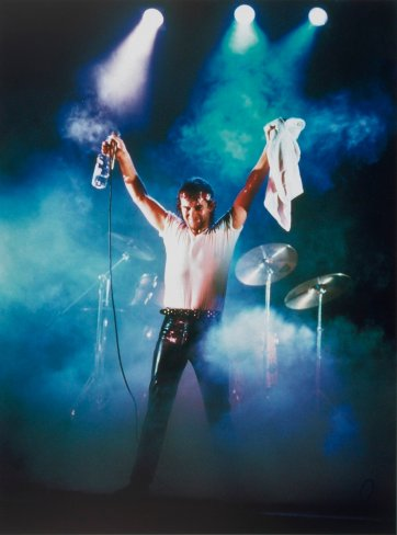 Jimmy Barnes at The Coogee Bay Hotel 1984 by Grant Matthews