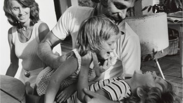 John Newcombe and family, 1973 Lewis Morley