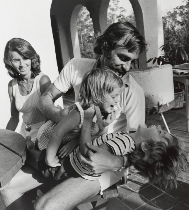 John Newcombe and family