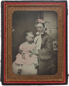 Martha Mary Robertson with her child William St Leonards Robertson, c. 1865 an unknown artist