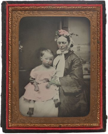 Martha Mary Robertson with her child William St. Leonards Robertson, c. 1865 an unknown artist