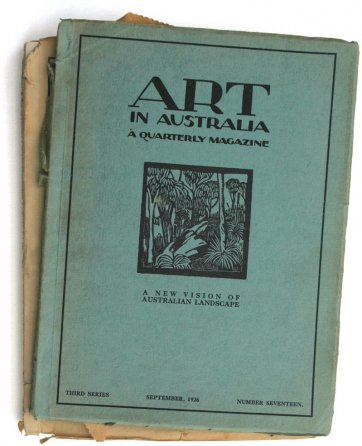 Gums Cover for Art in Australia September, 1926