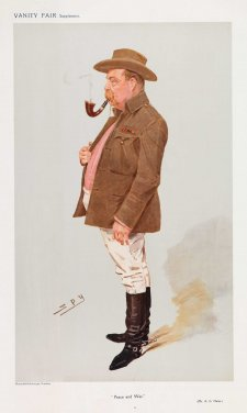 """Peace and War"" (A.A Greenwood Hales) (Image plate from Vanity Fair), 1908 by Sir Leslie Ward"