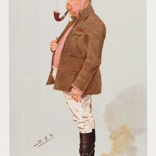 """Peace and War"" (A.A Greenwood Hales) (Image plate from Vanity Fair), 1908 Sir Leslie Ward"