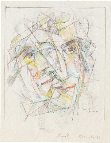 Portrait of Lin Bloomfield, 1992 by Frank Hinder