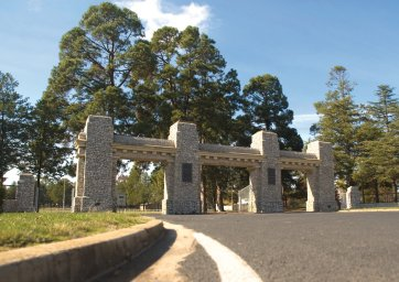 The AB Triggs Memorial Gates at Yass, New South Wales