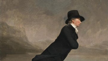 Revd Dr Robert Walker Skating on Duddingston Loch, c.1795 by Sir Henry Raeburn
