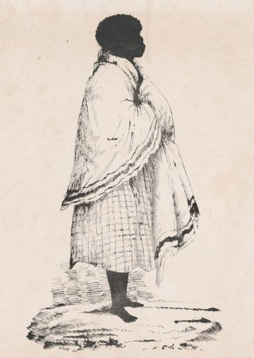 Punch, wife of Cullabaa, Broken Bay tribe, 1836 by William Fernyhough